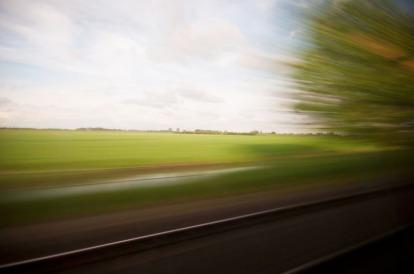 dal finestrino del treno