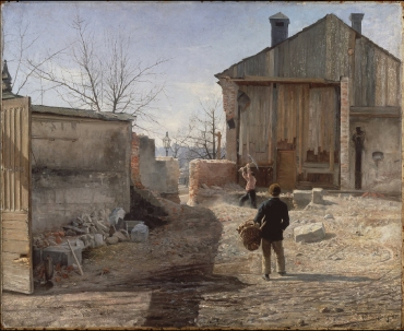 ANSHELM SCHULZBERG Demolizione del vecchio orfanotrofio 1886