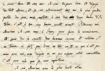 lettera di Leopardi