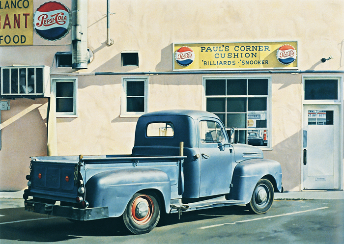 Ralph Goings - Paul's Corner Cushion 1990