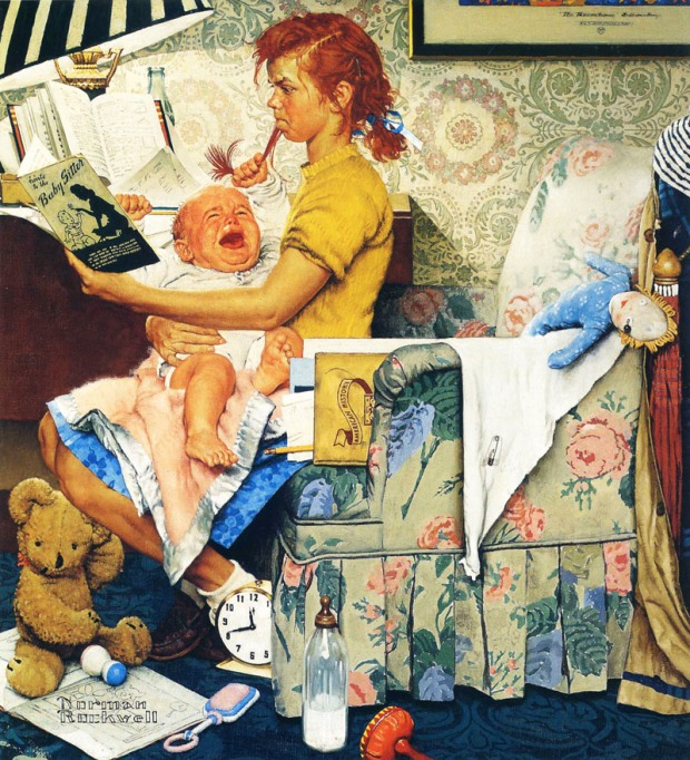 baby sitter di Rockwell