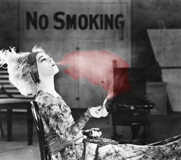 Non si fuma alle anteprime
