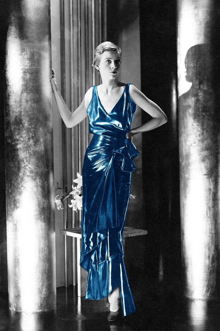 Vestito in cire satin, Schiaparelli ca 1930