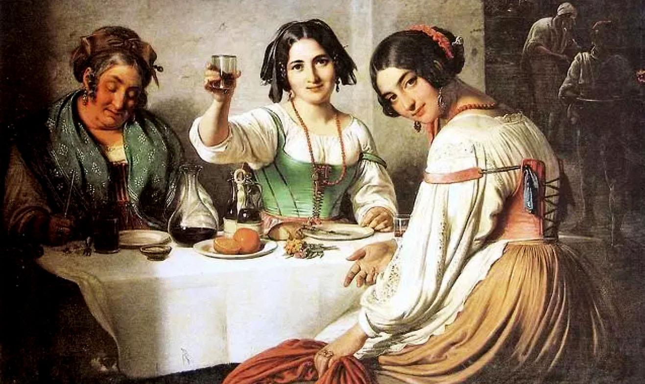Osteria romana 1800